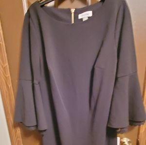 Calvin Klein Black Dress 8 Bell Sleeve